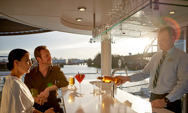 vista bar - scenic bar views - crystal cruises